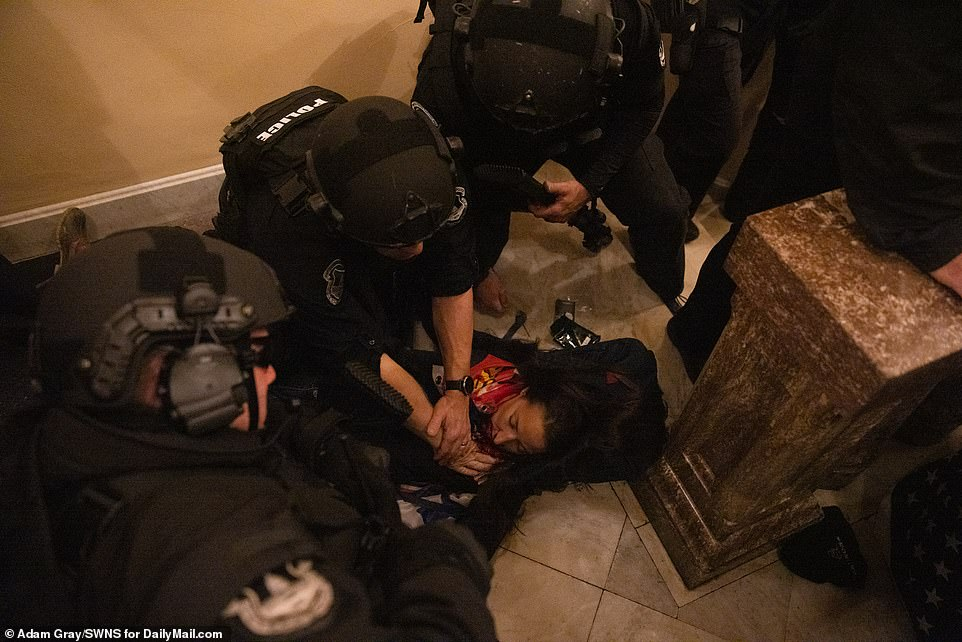 Babbit was shot in the chest on Wednesday afternoon after chaotic scenes broke out when dozens of Trump supporters breached security perimeters at the Capitol. She died several hours later